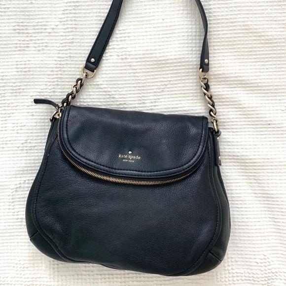 Black Kate Spade Medium Flap Bag